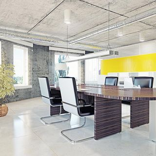 Commercial office concrete floor